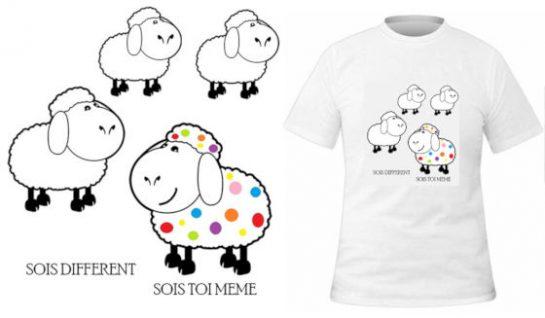 T-shirt Soi différent soi toi-même