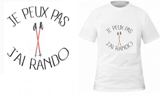 T-shirt J'ai rando