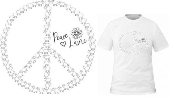 T-shirt Peace & Laine