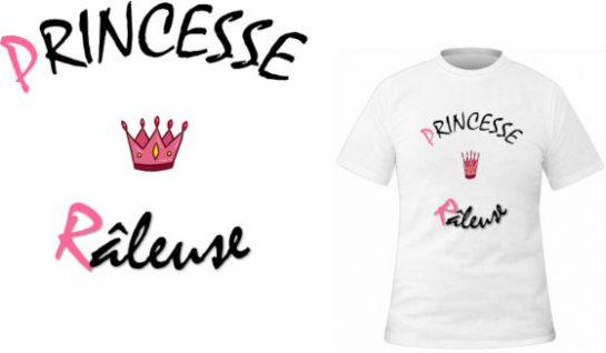T-shirt Princesse râleuse