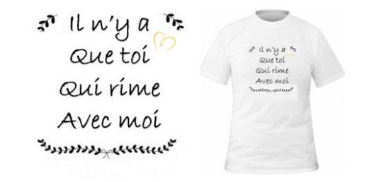 T-shirt Rime avec toi
