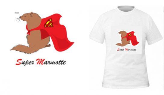 T-shirt Super marmotte