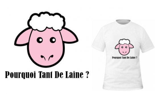 T-shirt Pour tant de laine?