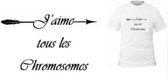 T-shirt J'aime les chromosomes
