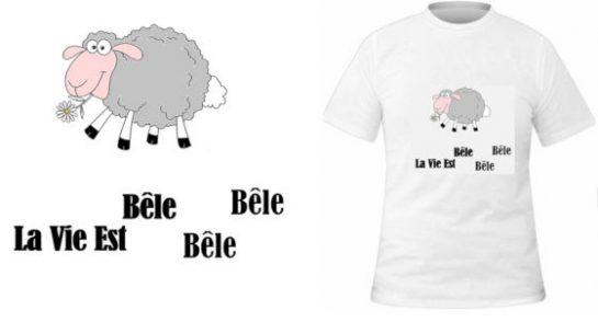 T-shirt La vie est bêle !